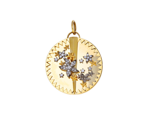 Large Blossoms Medallion Charm ONLY