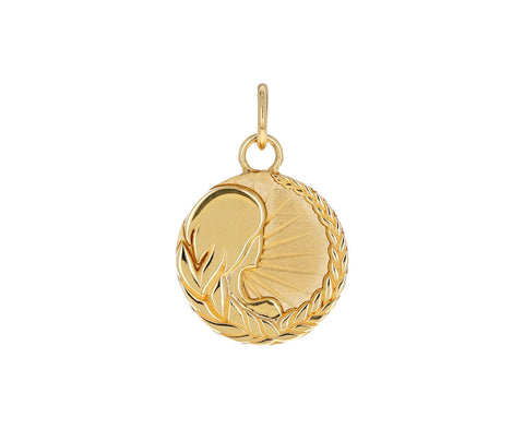 Virgo Zodiac Baby Medallion ONLY