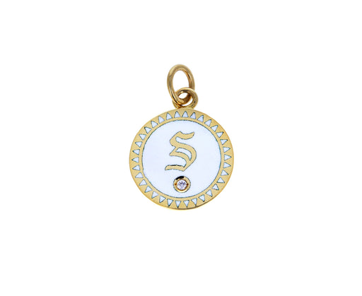 Petite Alphabet 'S' Medallion Pendant ONLY