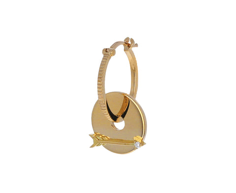Single Gold Arrow Symbol Disk Charm ONLY