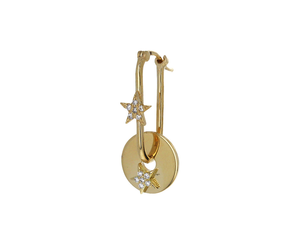 Single Diamond Star Symbol Disk Charm ONLY