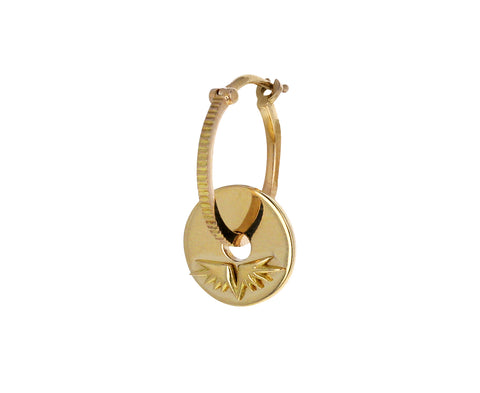 Single Gold Wings Symbol Disk Charm ONLY