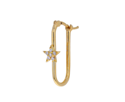 Small Star Fob Link Base SINGLE Earring
