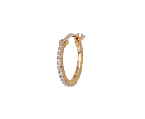 Petite Diamond SINGLE Hoop Earring