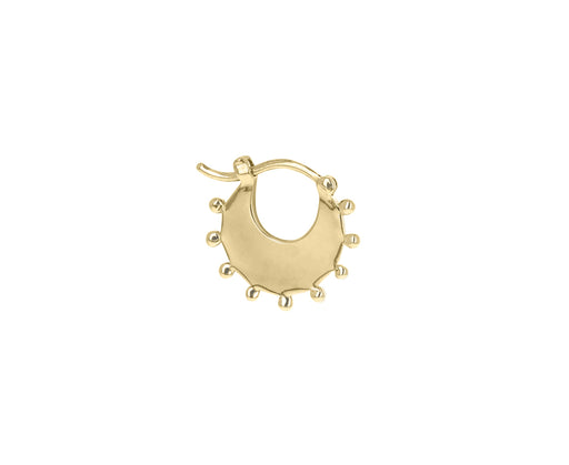 Right SINGLE Petite Crescent Dotted Hoop Earring