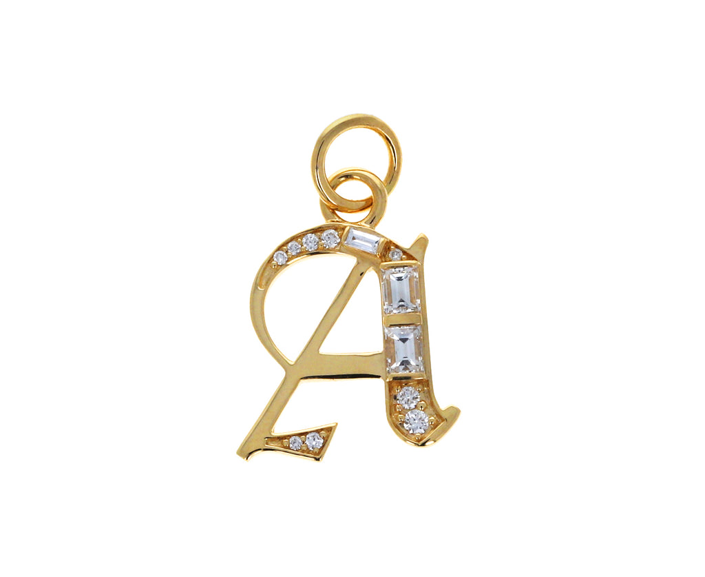 Diamond Element Initial 'A' Pendant ONLY