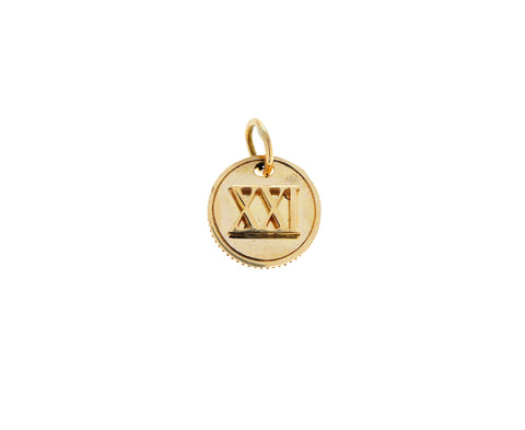 XXI Mini Coin Pendant ONLY