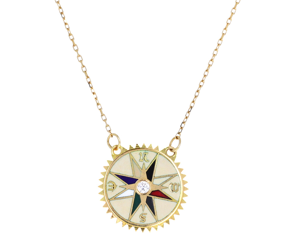 Course Correction Petite Enamel Necklace