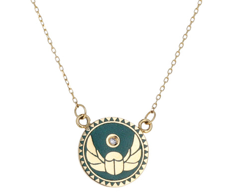 Protection Petite Enamel Necklace