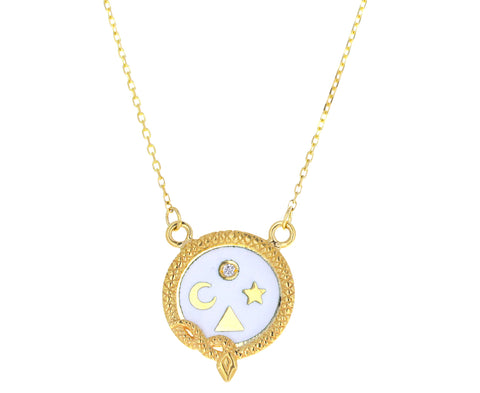 Wholeness Petite Enamel Necklace