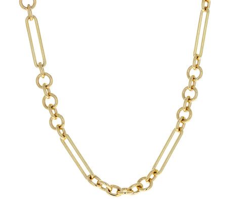 Short Midsize Mixed Clip Chain Necklace