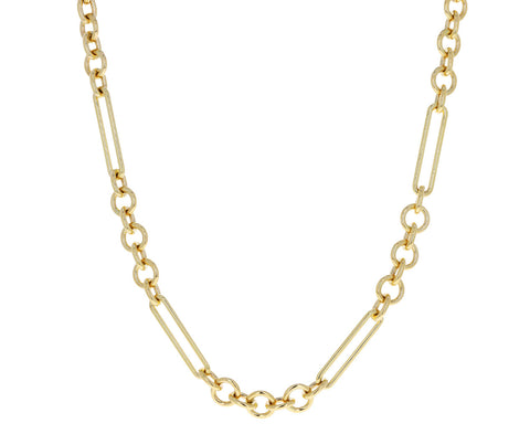 Midsize Mixed Clip Chain Necklace