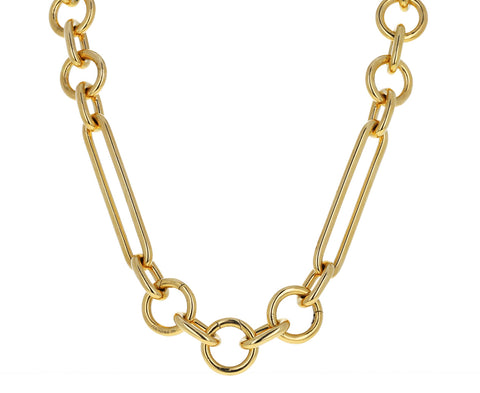 Mixed Oversized Clip Chain Necklace