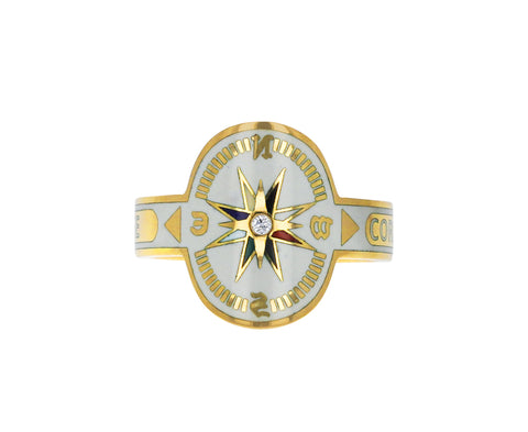 White Enamel Course Correction Cigar Band