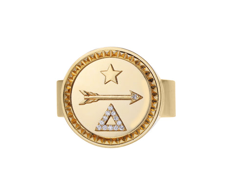 Dream Short Stack Signet Ring