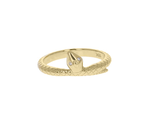 Single Snake Bookend Ring
