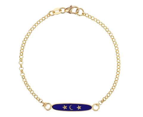 Blue Enamel Karma Sequence Bracelet