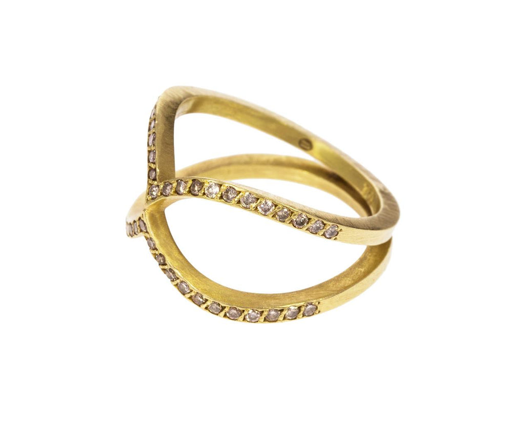 Champagne Diamond Infinity Band - TWISTonline