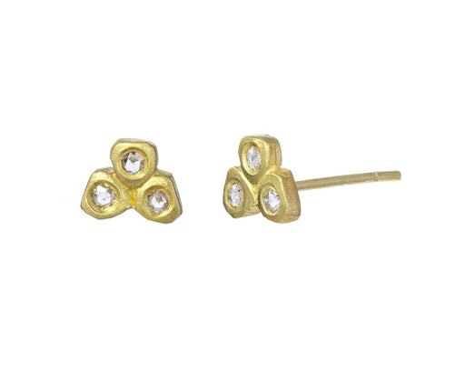 Diamond Tri-Petal Earrings - TWISTonline