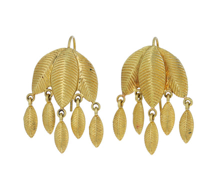 Lotus Leaf Dangle Earrings