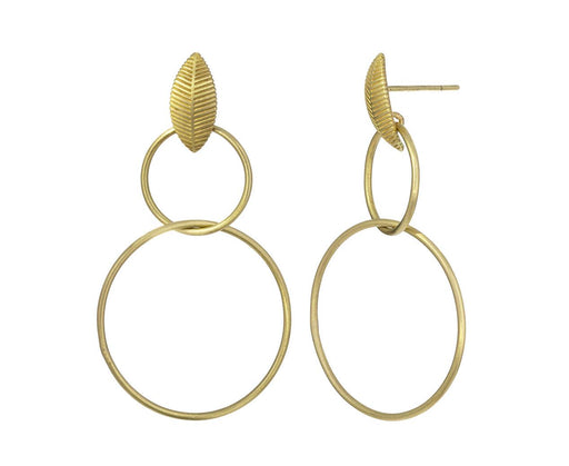 Lotus Leaf Double Drop Earrings - TWISTonline