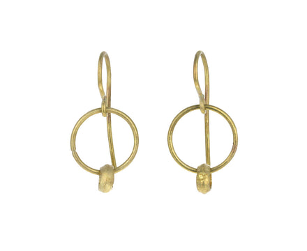 Gold Bead Hoop Earrings
