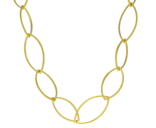 Gold Marquise Link Chain Necklace