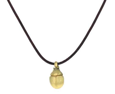 Emerald Eye Scarab Pendant Necklace