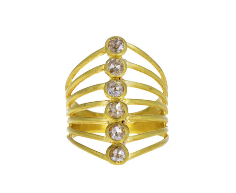 Diamond Vertebrate Ring