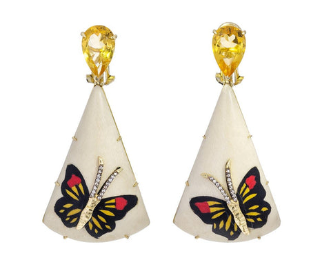 Marquetry Diamond Drop Earrings - TWISTonline