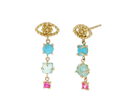 Blue Pacific Color for Life Eye Cascade Earrings