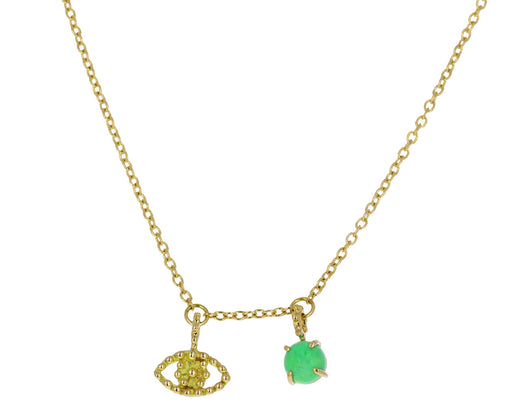 Green Turquoise and Evil Eye Color for Life Necklace