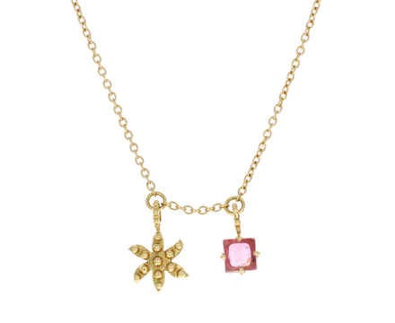 Pink Tourmaline Flower Color for Life Necklace