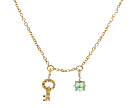Green Tourmaline Key Color for Life Necklace