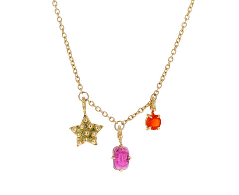 Star and Gem Color for Life Charm Necklace