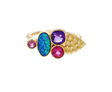 Opal and Sapphire Cesar Color for Life Ring