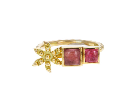Pink Tourmaline Flower Color for Life Ring