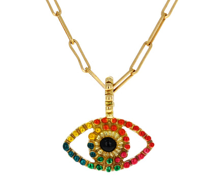 Lacquered Evil Eye Symbol of Life Pendant ONLY