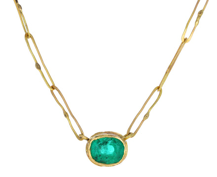 Oval Emerald Echo Necklace