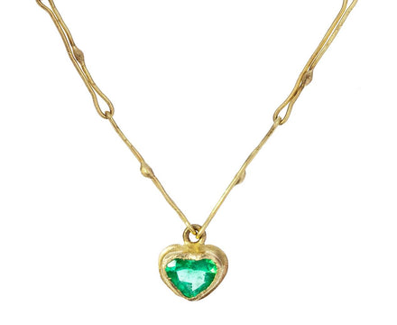 Tiny Colombian Emerald Heart Echo Necklace - TWISTonline