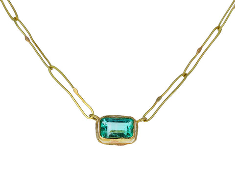 Rectangular Emerald Echo Necklace