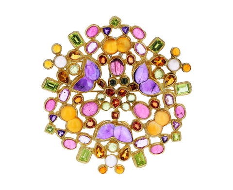 Multi Gem Kaleidoscope Pin