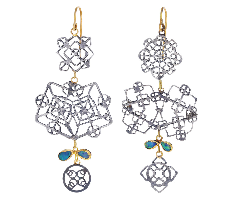 Reflective Casino Royale Opal Chandelier Earrings