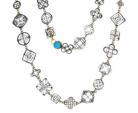 Silver and Turquoise Casino Royale Necklace