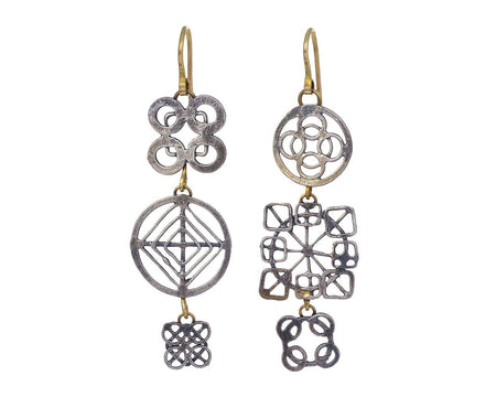 Two-Tone Wheel Earrings - TWISTonline