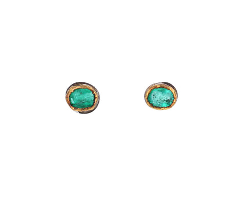 Tiny Emerald Stud Earrings