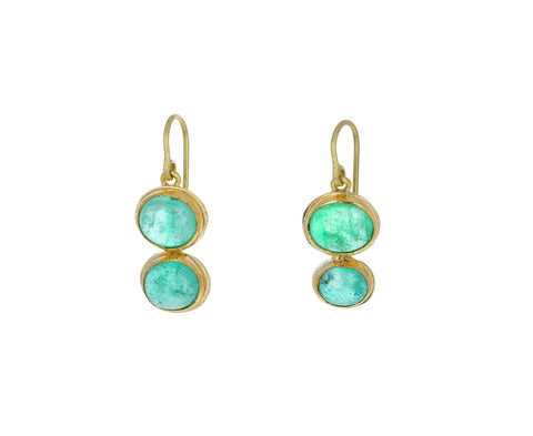 Light Emerald Double Drop Earrings