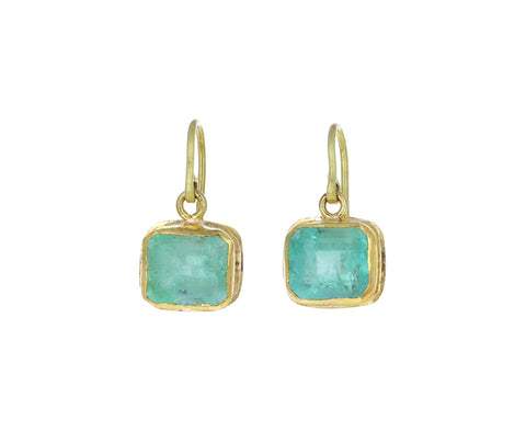 Light Square Emerald Earrings