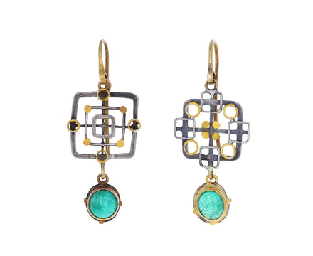 Casino Royale Emerald Dangle Earrings