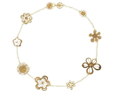 Tea Length Flowery Necklace - TWISTonline